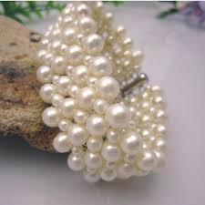 pearls bracelet images Free shipping natural freshwater pearl bracelets hand fan pearl jpg