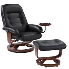 Black Leather Recliner Style Recliner And Ottoman In Black Leather Stargate Cinema