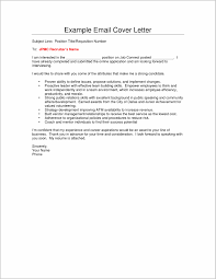 Cover Letter Sample For Sending Resume Cover Letter Resume