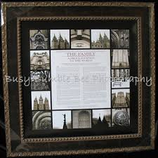 framed family proclamation bee square boutique crafted and framed products