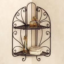 Wrought Iron Bathroom Shelves Homely Idea Wrought Iron Wall Shelves At The Hued