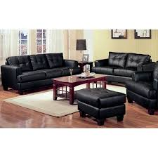 Black Leather Sofa Modern 2 Modern Black Bonded Leather Sofa And Loveseat Livingroom