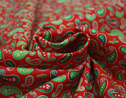 sale children u0027s christmas inspired paisley print cotton craft