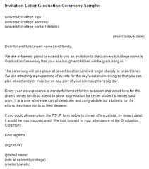 invitation letter graduation ceremony sle just letter templates