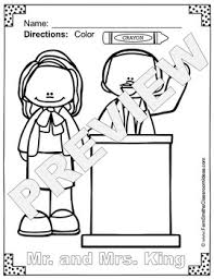 martin luther king jr day coloring pages freebie tpt