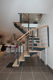 limon d escalier en bois création des escaliers potier limon central bois laqué gris
