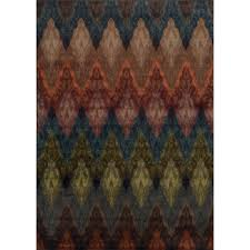 Ikat Kitchen Rug Rugs Lima Multi Coloured Triangle Geometric Patterned Modern Rug