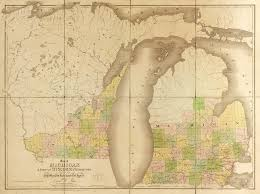 Maps Of Wisconsin by Map Of Michigan And Part Of Wisconsin Territory World Digital