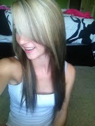 dark hair underneath light on top i want my hair like this dark underneath and light on top with