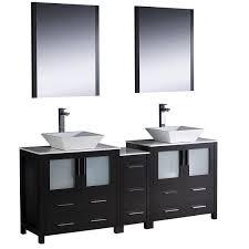 72 Inch Double Sink Bathroom Vanity by Fresca Torino 72 Inch Espresso Modern Double Sink Bathroom Vanity