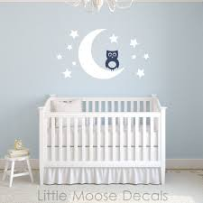 Letter Wall Decals For Nursery Baby Wall Decal Vinyl Owl Moon Nursery By Littlemoosedecals