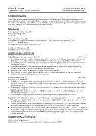 Finance Objective For Resume Entry Level Finance Resume Resume Badak