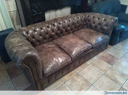 canapé chesterfield ancien ancien canapé chesterfield en cuir a vendre 2ememain be