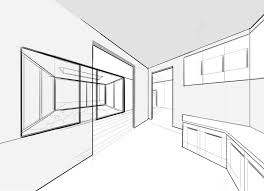 sketch room how to draw with two point perspective making beautiful interiors