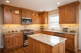 how to clean light oak cabinets light oak shaker kitchen cabinets a kitchen in the home is