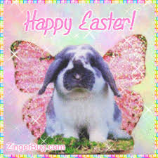 Cute Easter Meme - easter bunny angel glitter graphic greeting comment meme or gif