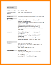 job application resume template example of resume for applying job