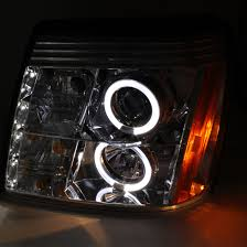 02 cadillac escalade 02 06 cadillac escalade dual halo led drl projector headlights