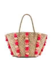 Beach Basket Seafolly Carried Away Pom Pom Beach Basket Pom Pom Beach Bags