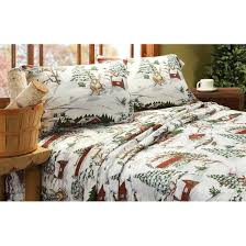 winter lodge flannel sheet set 209126 sheets at sportsman s guide