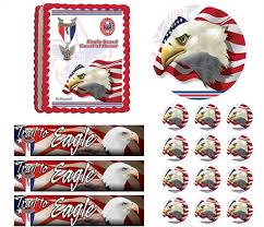 eagle cake topper scout ceremony court of honor be prepared edible cake topper