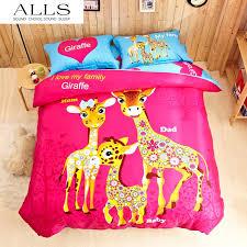 Giraffe Bedding Set 100 Cotton 300tc Lovely Blue Giraffe Family Baby Bedding Set