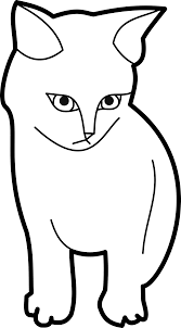 clipart sitting cat outline