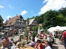 national holiday in german village costumed carnaval kloster
