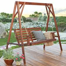 Acacia Wood Outdoor Furniture Durability by Furniture Outstanding Straight Back Porch Swing Made Of Red