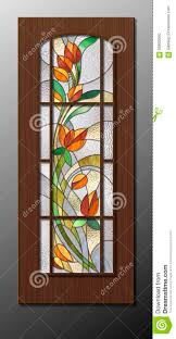 stained glass designs for doors floral stained glass pattern stock illustration image 65605560