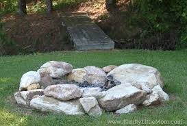 Firepit Rocks Build Your Own Backyard Pit Using Free Materials Thrifty