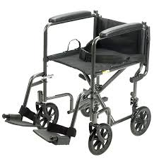 drive medical 17 steel transport chair black upholstery