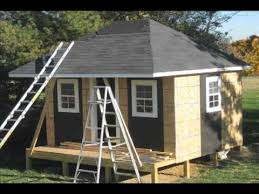 Hips Roof Custom Made Shed Or Playhose With Columns And Hip Roof Youtube