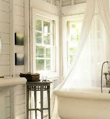 Bathroom Tub Decorating Ideas Bathroom Gorgeous Rural Clawfoot Tub With White Curtains And