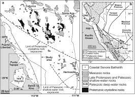 Hermosillo Mexico Map by Geochemistry Of The Coastal Sonora Batholith Northwestern Mexico