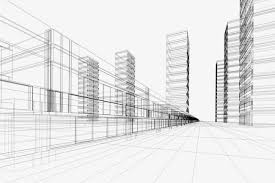 creative city building perspective lines line painted urban