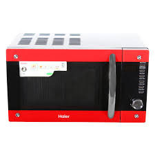 haier 20 l convection microwave oven hil2001cbsh black and red