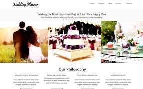 wedding planner website wedding planner website template