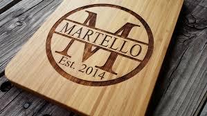 custom cutting board personalized cutting board bamboo cutting