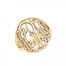 monogram ring gold gold halo monogram ring be monogrammed