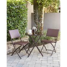 Dark Brown Wicker Patio Furniture by Cosco Delray Transitional 3 Piece Steel Dark Brown U0026 Red Woven