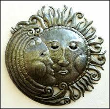 stylish decoration sun and moon wall decor yin yang wind