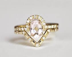 Opal Wedding Ring Sets by Opal Wedding Set Opal Diamond Ring Opal Engagement Set Oval