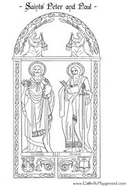 saint coloring page saints peter and paul coloring page june 29th u2013 catholic playground