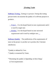 manual testing notes software testing software development process
