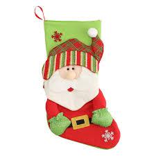 stereo christmas gift socks bag santa claus snowman elk holiday