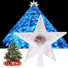 Christmas Outdoor Decor by Colorful Changing Xmas Christmas Tree Topper Star Light Led Lamp