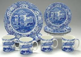 spode blue italian newer 12 set at replacements ltd
