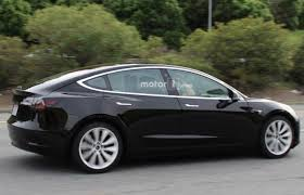 india bound production spec tesla model 3 spied
