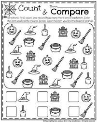 adorable kindergarten worksheets for halloween find count and